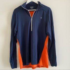 Norrona Men's Wool Zip Neck Long Sleeve Sweater